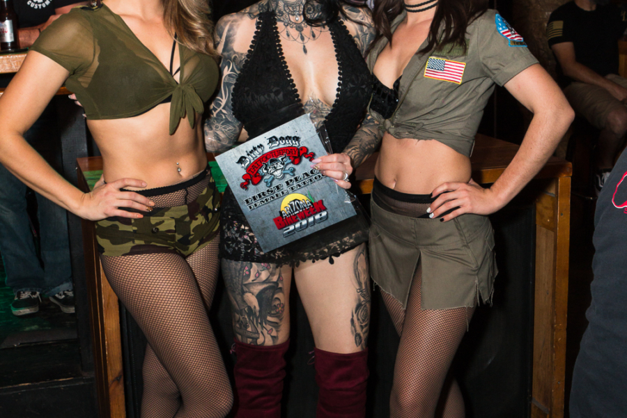 Dirty Dogg Saloon, ABW2018, Arizona Bike Week, Scottsdale, Flaunt Girls, Tattoo Tuesday